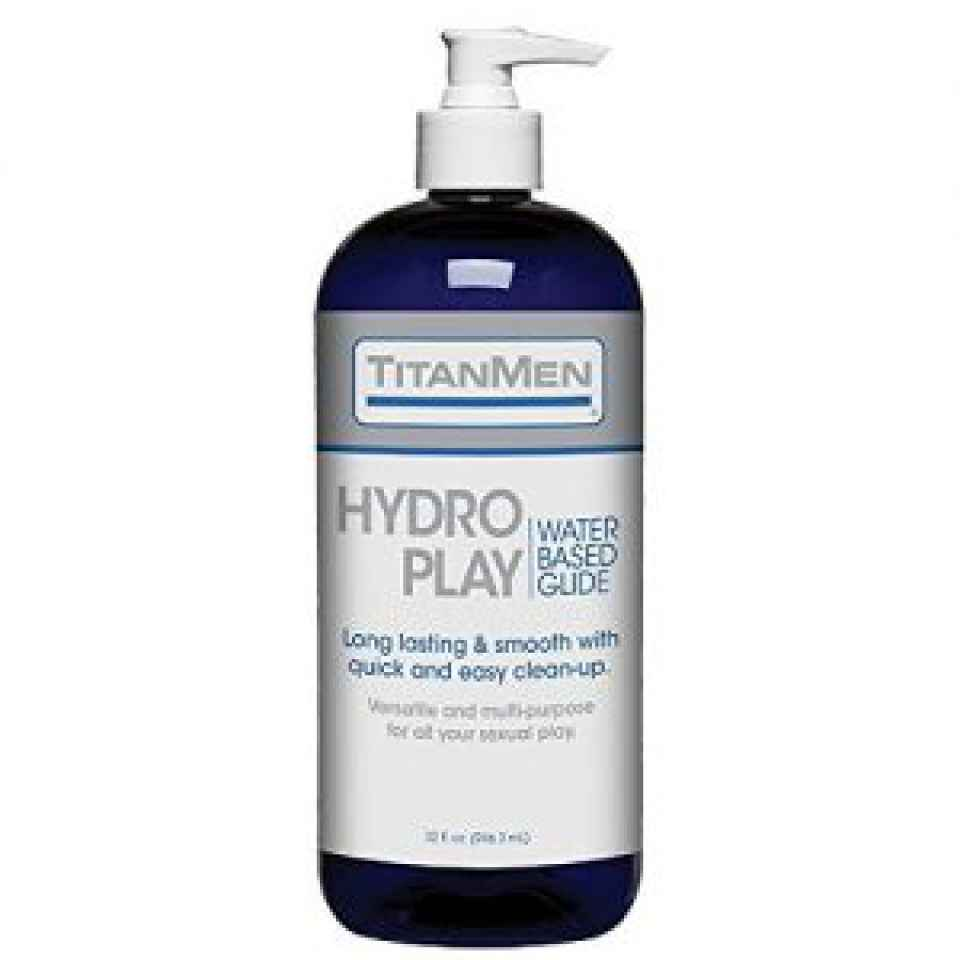 Doc Johnson TitanMen - Hydro Play Water Based Lube - Super Slick and Non-Sticky Formula - 32 fl oz > Angel Erotica > sexual wellness for gay men