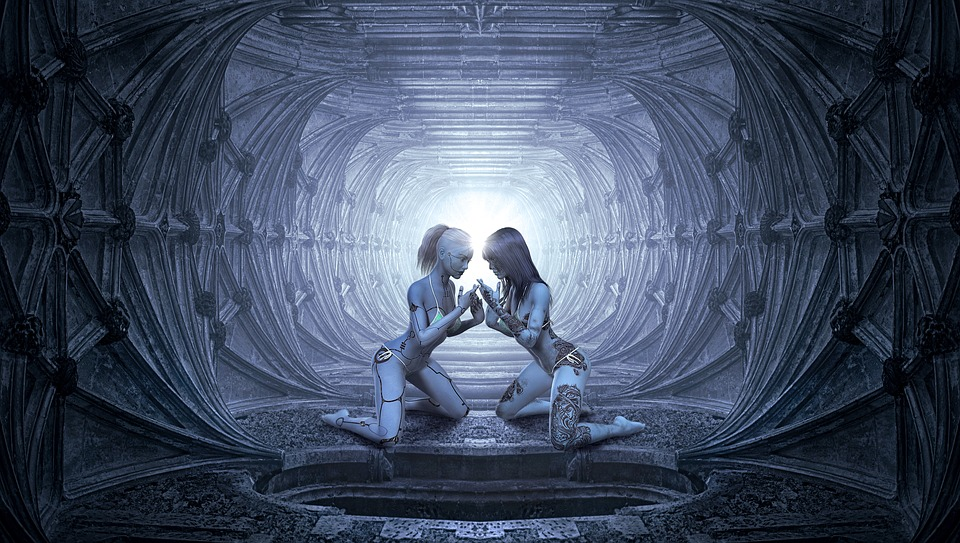fantasy, tunnel, women