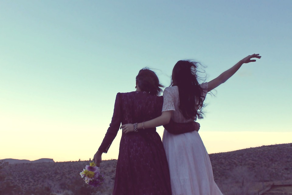 girlfriends sunset vintage bohemian fashion goodbye good morning free spirit carefree friendship friends best friends marriage gay rights gay marriage women women friends two women hug hugging desert landscape vintage fashion vintage clothes waving bohemian bohemian bohemian bohemian bohemian goodbye goodbye best friends gay marriage gay marriage women friends women friends two women